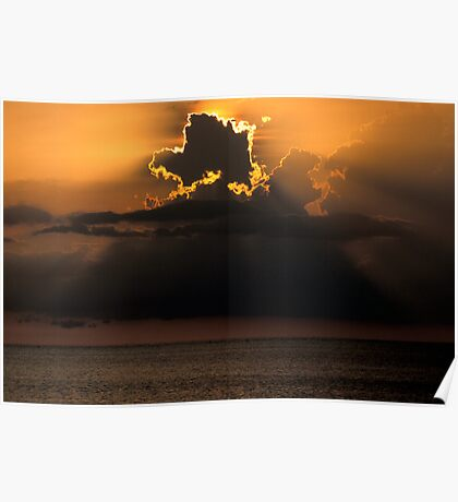 Thunderhead Over the Gulf Poster