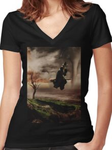 Villain Ladies - The Wicked Witch Women's Fitted V-Neck T-Shirt