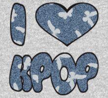 I HEART KPOP DENIM - PINK Kids Tee