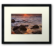 Glowing Sand Framed Print