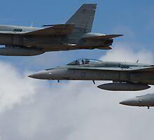 FA-18 Hornet Formation by Michael Eyssens