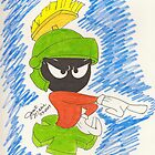 Marvin the Martian from Looney Toons by janetmarston