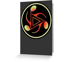 Colorful Music Notes   Greeting Card