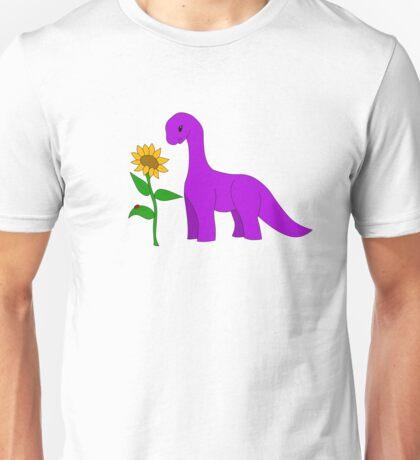 Sauropod and Sunflower Unisex T-Shirt