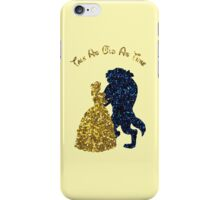 Glittery Beauty and the Beast iPhone Case/Skin