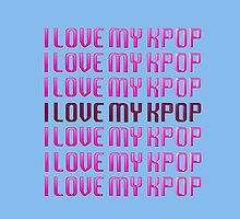 LOVE MY KPOP - LIGHT BLUE by Kpop Seoul Shop