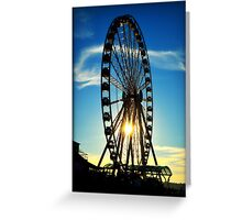 Seattle Great Wheel Greeting Card