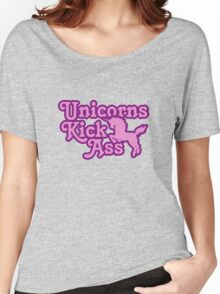 Unicorns Kick Ass Women's Relaxed Fit T-Shirt