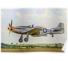 """P-51D Mustang 44-74427 F-AZSB """"Nooky Booky IV"""" Poster"""
