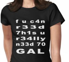 Text Message (white) Womens Fitted T-Shirt