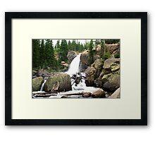 Stunning Alberta Falls Framed Print