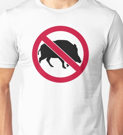 No wild boars Unisex T-Shirt