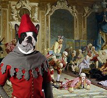 Boston Terrier Art  - The madam and joyfull friends by NobilityDogs