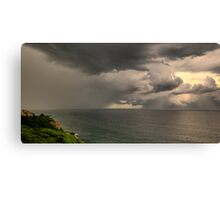 Storm off Newcastle Harbour Canvas Print