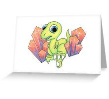 New School Dino & Crystals Greeting Card