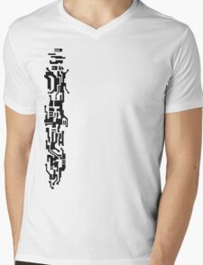 White Faith Mens V-Neck T-Shirt