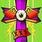 The Flying Eye in the Cross by krayola