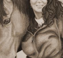 """Tank & Cheryl"" - Commission Portrait - Sepia Sticker"