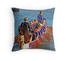 Dragon Boat Racing Throw Pillow