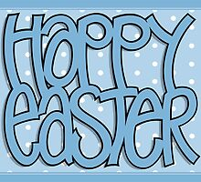 Happy Easter blue by Mariana Musa