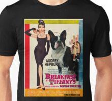 Boston Terrier Art - Breakfast at Tiffany Movie Poster Unisex T-Shirt