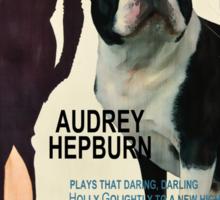 Boston Terrier Art - Breakfast at Tiffany Movie Poster Sticker