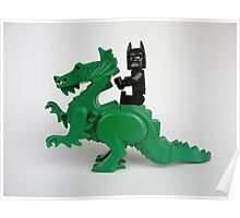 Batman on a Dragon Poster
