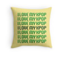 LOVE MY KPOP - GREEN Throw Pillow