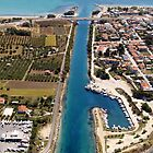 Potidea sea canal by airphoto-gr