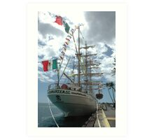 Flying the Mexican Flag Art Print