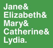 Jane & Elizabeth & Mary & Catherine & Lydia. Kids Clothes