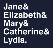 Jane & Elizabeth & Mary & Catherine & Lydia. One Piece - Short Sleeve