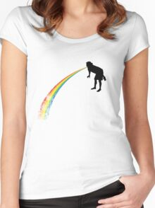Rainbow Undigested Women's Fitted Scoop T-Shirt
