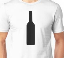 Black wine bottle Unisex T-Shirt