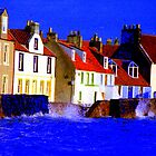 PITTENWEEM WITH A UNFORGIVING SEA !! by chick