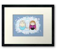 Frozen Tiggles Framed Print