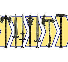 Skyrim - Steel Weapons by sansasnark