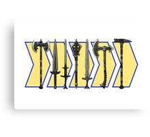 Skyrim - Steel Weapons Canvas Print
