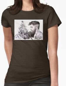 Sailor's Beard by April Alayne Womens Fitted T-Shirt