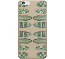 summer surfboard greens iPhone Case/Skin