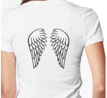 Angel wings Womens Fitted T-Shirt