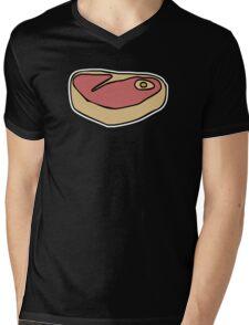 MEAT Mens V-Neck T-Shirt