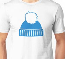 Blue bobble hat Unisex T-Shirt