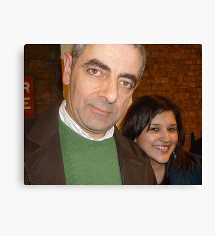 Meeting Rowan Atkinson Canvas Print