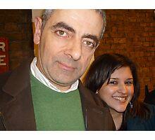 Meeting Rowan Atkinson Photographic Print