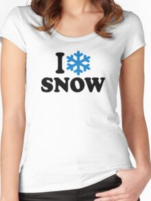I love snow Women's Fitted Scoop T-Shirt