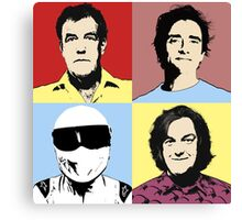 The Top Gear Team - POP Art Canvas Print