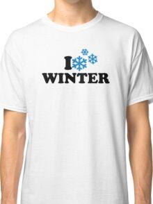 I love winter snowflakes Classic T-Shirt