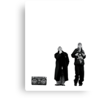 Jay and Silent Bob at the Quick Stop Canvas Print
