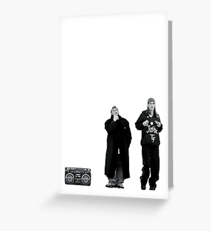 Jay and Silent Bob at the Quick Stop Greeting Card